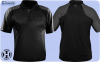 Vivid Dart Shirt Black with Grey Small- 5XL