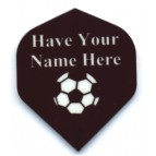 10 sets Black Standard Personalised football Name on 2 Lines