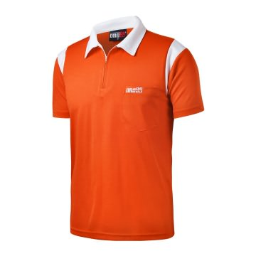 One80 dart Shirt Orange and White Can be Personilised