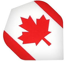 Canada Flag Poly Std (nx136) Transparent Maple Leaf