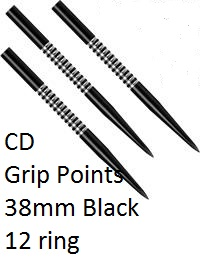 CD Grip points BLACK 38mm Steel points 12 Ring CD1