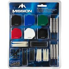 Mission Darts Accessory Kit Includes 2 Sets of Darts