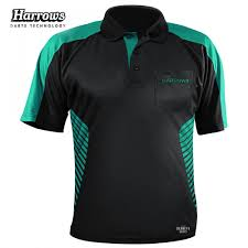 Vivid Dart Shirt Black with Jade Small- 5XL