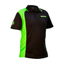 Winmau Wincool2 Dart Shirt Black/Green Can Be Personilised